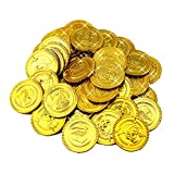 FidgetFidget Plastic Gold Coin Kids Birthday Party Favors Treasure Coin Captain Pirate 100x