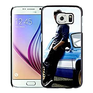 Fashionable Custom Designed Skin Case For Samsung Galaxy S6 With Paul Walker 1 Black Phone Case