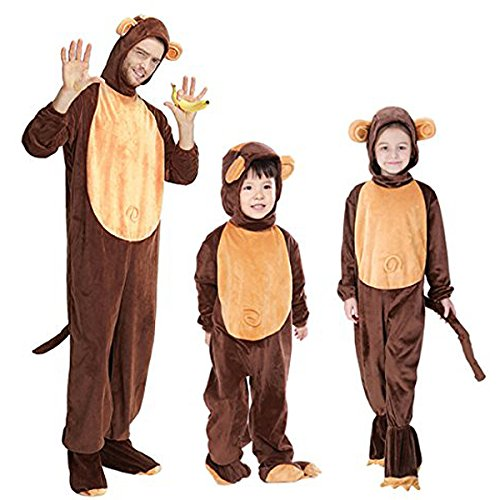 Halloween Animal Cosplay Monkey Costumes Funny Parent Child Hooded Pajamas
