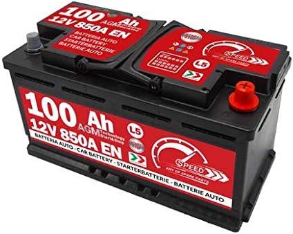 Batteria Auto Speed 100Ah AGM 850A con polo positivo a destra per