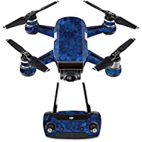 Skin for DJI Spark Mini Drone Combo - Blue Ice| MightySkins Protective, Durable, and Unique Vinyl Decal wrap cover | Easy To Apply, Remove, and Change Styles | Made in the USA