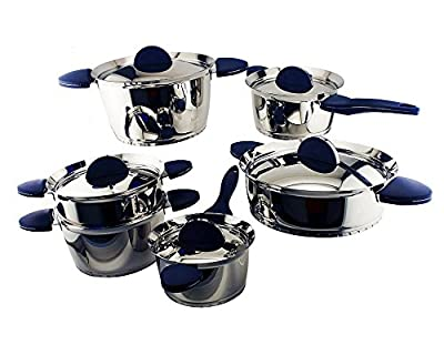 BergHOFF 1112527b 11-Piece Stacca Cookware Set, Blue
