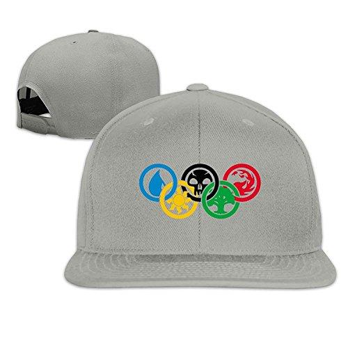 Magic Gathering Olympics Snapback Adjustable Caps One Size--Ash