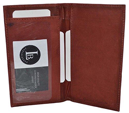 - Basic Leather Checkbook Cover (Burgundy)