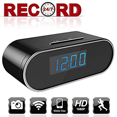 Aurola WiFi 1080P Hidden Camera Clock, Spy Camera, Nanny Camera with with Motion Detection Loop Recording for Home and Office Security Surveillance by Aurola