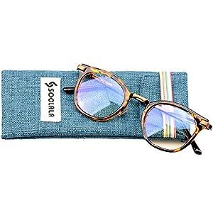 SOOLALA Womens Hot Fashion Cateye Eyeglass Frame Stylish Reading Glasses, Leopard, +0.5D