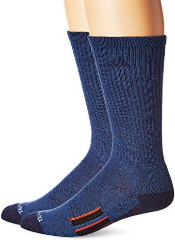 Sock Navy Pack Crew 2 (adidas Men's Climalite X II Crew Socks (2-Pack), Denim Blue/Collegiate Navy/Energy Red/Black, Large)