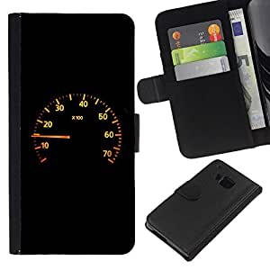 All Phone Most Case / Oferta Especial Cáscara Funda de cuero Monedero Cubierta de proteccion Caso / Wallet Case for HTC One M9 // Speedometer