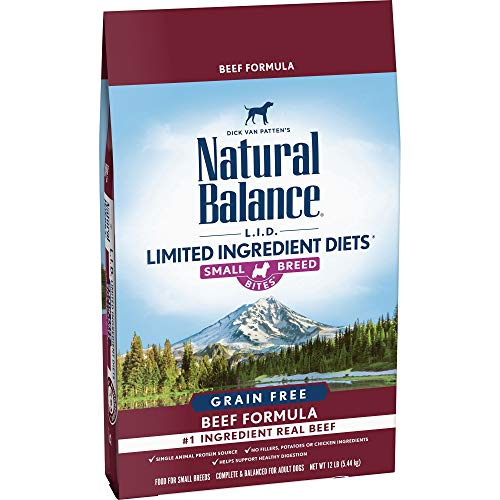 Natural Balance Limited Ingredient Diets Dry Dog Food Beef Small Breed Bites