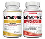Mitadone Anti-Alcohol Aid and 5+5 Detox Combo (150 Count ). May Help Cut back or Quit Multi Vitamin Support Program.