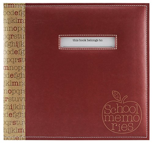 (MCS MBI 13.5x12.5 School Memories Scrapbook Album with 12x12 Inch Pages with Signature Opening (850010))