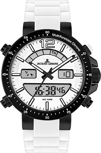 Jacques Lemans Men's 1-1712P Milano Sport Analog with Analog-Digital Display Watch