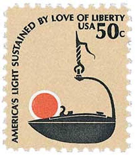 USA 1979 50-Cent Americana Series Betty Lamp Postage Stamp, Catalog No 1608