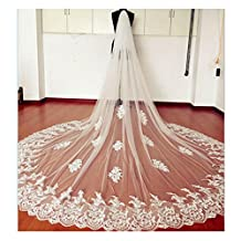 EllieHouse Women's Custom Made Long 2 Tier Wedding Bridal Veil With Free Comb E69