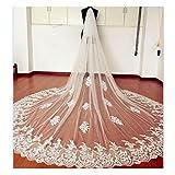 EllieHouse Women's Custom Made Long 2 Tier Wedding Bridal Veil With Free ...