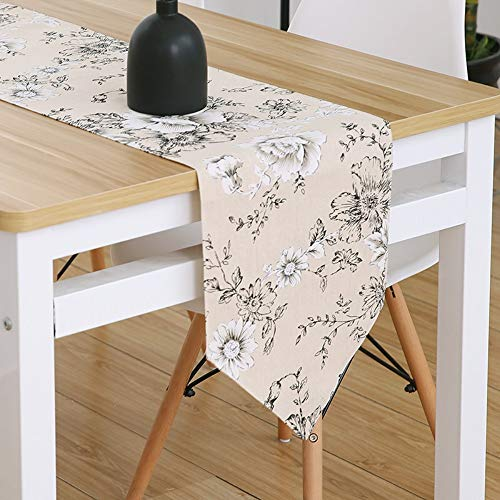 (JUNYZZQ Table Runner Nordic Chinese-Style Japanese Korean Pastoral Modern Minimalist Fresh Style Bed Flag Cabinet Cover Towel with Pendant,30X180Cm)