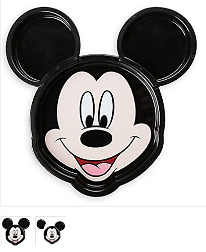 Mickey Mouse Face Clip Plate Meal Time Magic Collection 9' Shaped Dinner Plates
