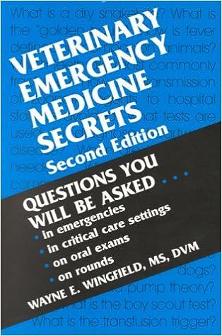 51969DBBCAL. SX312 BO1,204,203,200 • Veterinary Emergency Medicine Secrets