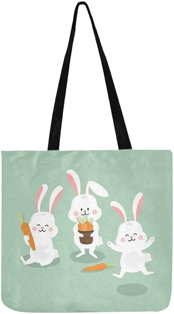 Rabbit /& carrots cotton tote bag