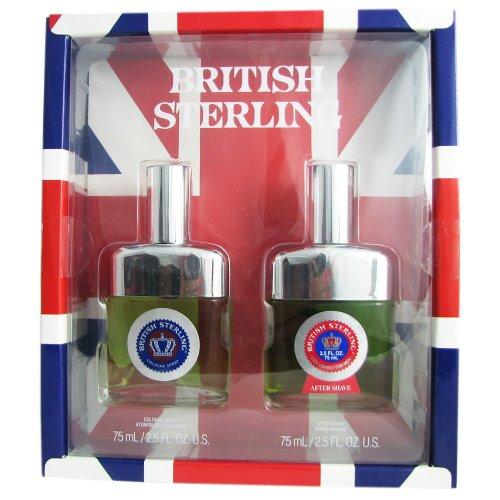 (Dana British Sterling 2 Piece Fragrance Set for Men Cologne Spray and After Shave 2.5 Fl Oz)