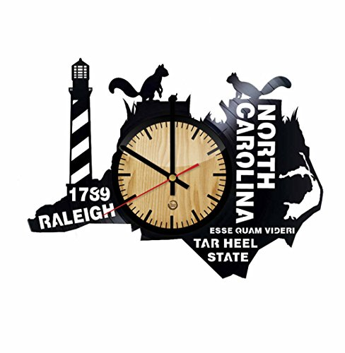 Welcome Dzen Store North Carolina Wall Clock - Get Unique of Home Room Wall Decor - Gift Ideas for Friends – Tar Heel State Unique Art Design