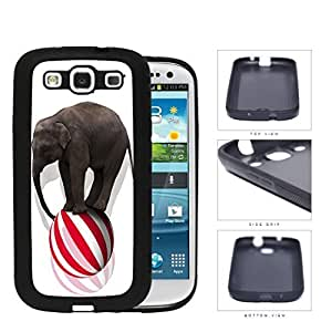 Circus Elephant Balancing On Ball Rubber Silicone TPU Cell Phone Case Samsung Galaxy S3 SIII I9300