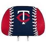 ProMark Minnesota Twins PRINTED Full Color 2-pack Head Rest Covers Elastic Auto Baseball