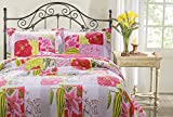 Greenland Home 2-Piece Love Letters Quilt Set, Twin, Multi