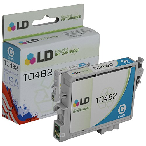 LD Products Remanufactured Ink Cartridge Replacement for Epson T0482 ( Cyan )