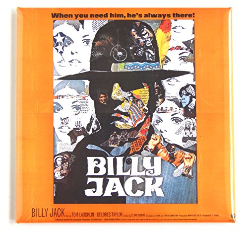 Billy Jack Movie Poster Fridge Magnet (3 x 3 inches)
