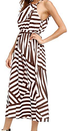 5 Sexy Stripe Party Spaghetti Dress Womens Straps Elegant Long Jaycargogo zqZOxwz