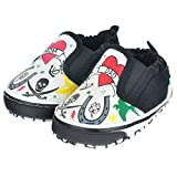 Me In Mind Infant/Toddler 807 Slip On With Tattoo,White/Black,7-8 M US Toddler