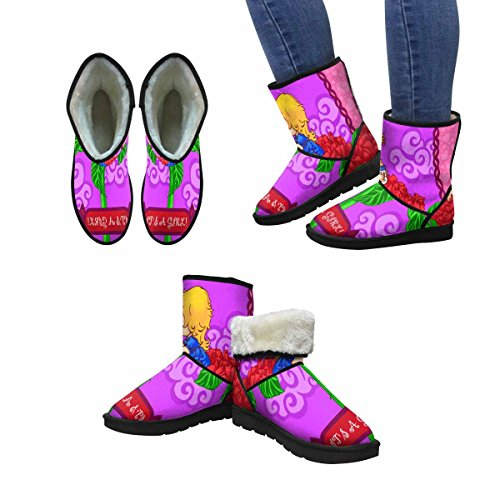 InterestPrint Womens Snow Boots Baby Shower Its a Girl Unique Designed Comfort Winter Boots Multi 1 rMcxNA4