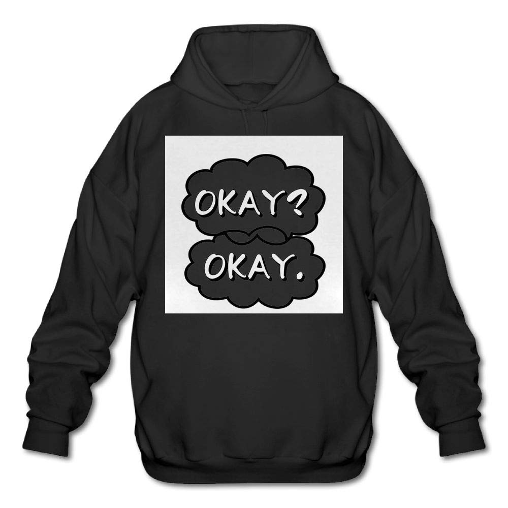 Sweatshirt Haoshouru Mens Long Sleeve Cotton Hoodie Okay Okay