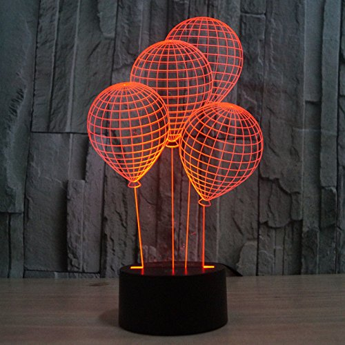 Balloon Shape 3D Light Led Table Lamp Acrylic Night Light Usb Party Decor