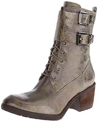 Donald J Pliner Women's Danti Combat Boot,Olive Antique Metallic Leather,6.5 M US