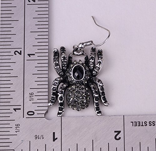 YACQ Jewelry Spider Crystal Dangle Earrings Halloween Party Gifts for Women Teen Girls Photo #4