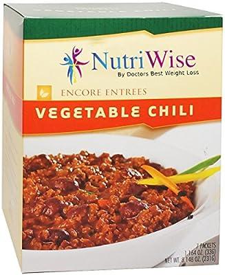Nutriwise - Vegetable Chili Diet Entree (7 Servings/box)