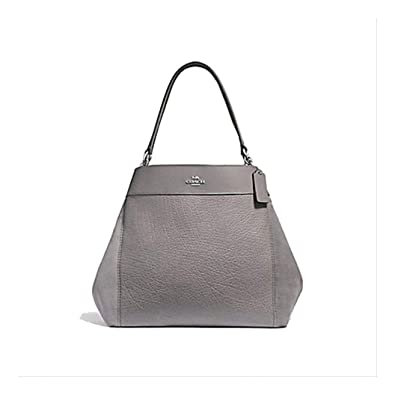 08776ce653 Coach Women s Large Lexy Pebble Leather and Suede Shoulder Bag ...