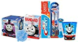 Thomas The Train & Friends 8pc Boys All Inclusive Bathroom Collection! Toothbrush, Toothpaste, Timer, Rinse Cup, Bath Scrubby, Tissue Box & Bandages!