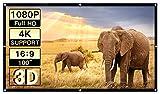 PERLESMIT Portable Projector Screen 100 Inch 16:9 Widescreen for Outdoor Indoor Movie Home Theater Cinema