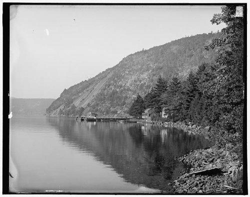 Photo: Rogers' Slide,cliffs,water,Adirondack Mountains,Lake George,New York,NY,c1904 - Shopping George Ny Lake