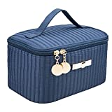 Cute Makeup Bags EN'DA Portable Cosmetic Toiletry Bags Cute Makeup Travel Bags with Mirror 7.9