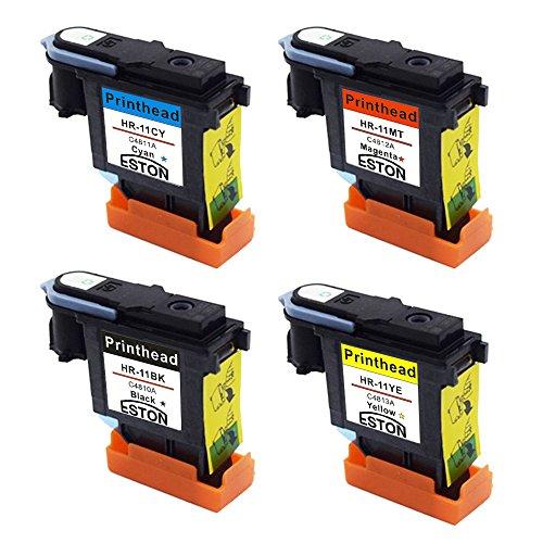 ESTON 4 PACK Printhead Replacement for 11 Printhead C4810A C4811A C4812A C4813A