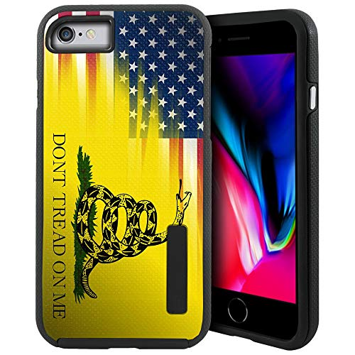 CasesOnDeck Case Compatible with [iPhone 7 | iPhone 8 ][Grip Tactical] iPhone 8 Design Case with Dual Layer Protection Optimal Grip Exterior Cover (Dont Tread On Me)