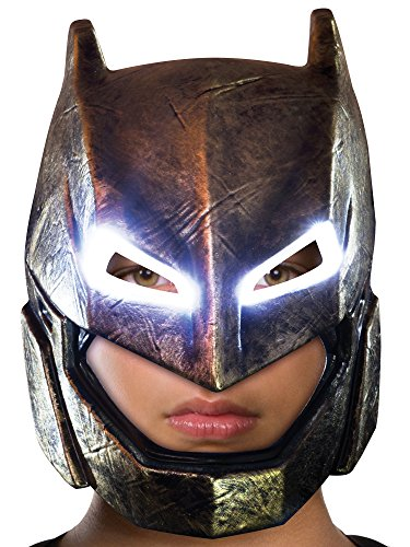 Rubie's Batman v Superman: Dawn of Justice Kid's Armored Batman Light Up Mask ()