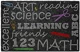 Brumlow Mills EW10058-30x46 School Chalkboard Teacher Entryway Rug, 2'6 x 3'10
