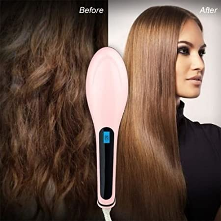Hair Straightener Brush Electric Hair Straightening Brush Comb Ironing Hairbrush Heating Brush Comb