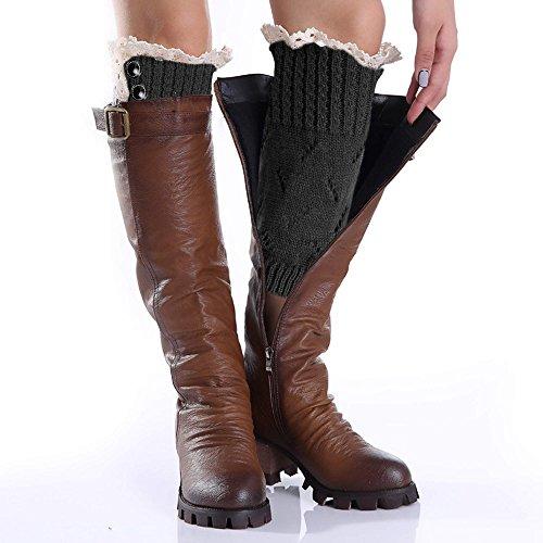 Avidlove Women Socks Button Lace Leg Warmers Knit