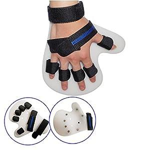 Jinon Finger Training Device,Finger Orthotics Fingerboard Stroke Hemiplegia Finger Orthotics Points for Stroke/hemiplegia/Traumatic Brain Injury (Black,Right Hand) by Jinon